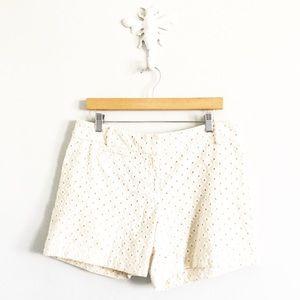 LOFT Ivory Eyelet Shorts